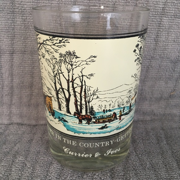'78 Arby's Collector's Series Currier & Ives Glass